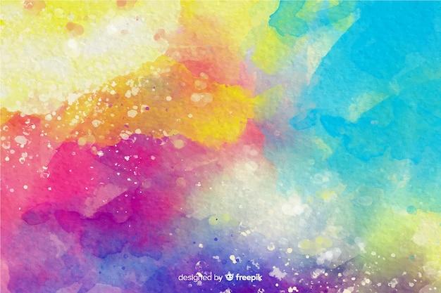 Kleurrijke aquarel effect achtergrond