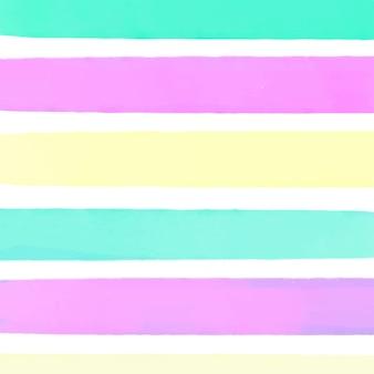 Kleurrijke aquarel gestreepte achtergrond