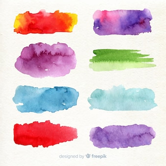 Kleurrijke aquarel lijn collectie