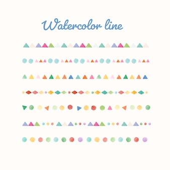 Kleurrijke aquarel lijn ontwerpset