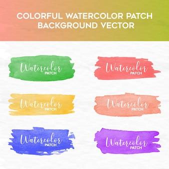 Kleurrijke aquarel patch achtergrond