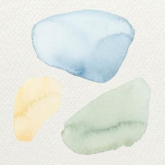 Kleurrijke aquarel penseelstreken