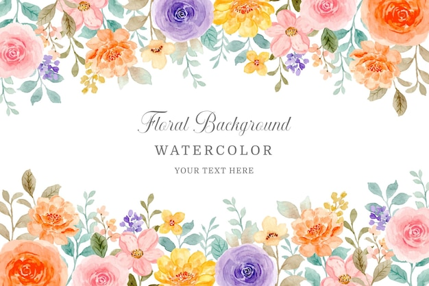 Kleurrijke aquarel roze bloem achtergrond