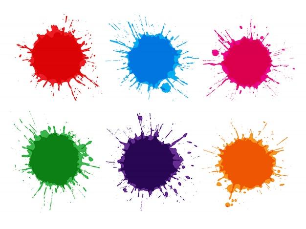 Kleurrijke aquarel spatten