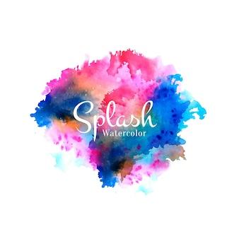 Kleurrijke aquarel splash ontwerp achtergrond