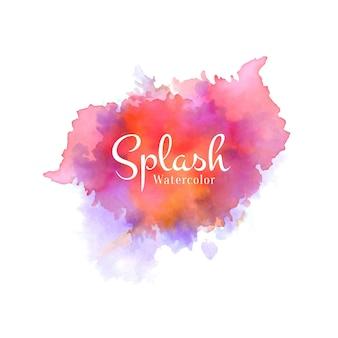 Kleurrijke aquarel splash ontwerp vector