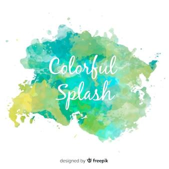 Kleurrijke aquarel splash