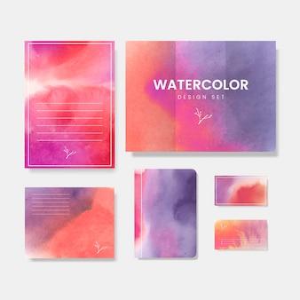 Kleurrijke aquarel stijl banner vector