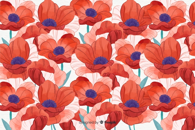 Kleurrijke aquarel stijl floral achtergrond