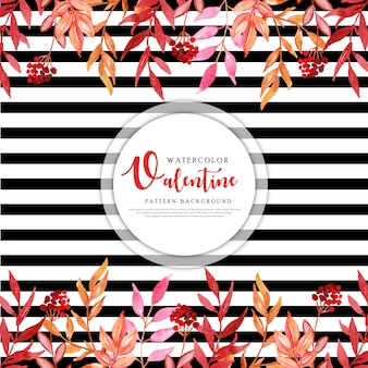 Kleurrijke aquarel valentine achtergrond
