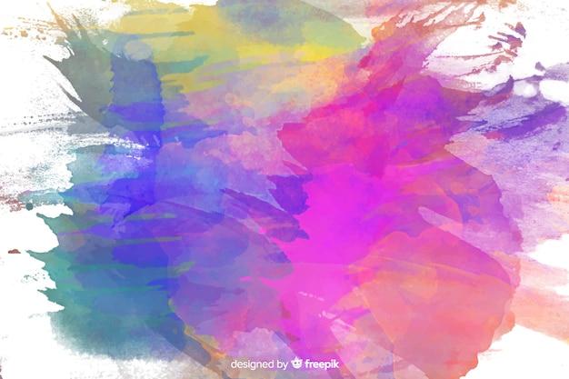 Kleurrijke aquarel vlekken achtergrond