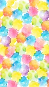 Kleurrijke aquarel vlekken mobiel behang