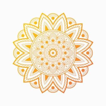 Kleurrijke arabesk mandala patroon achtergrond