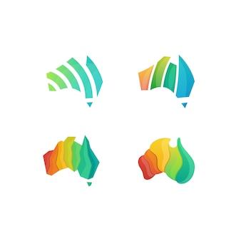 Kleurrijke australië illustratievector