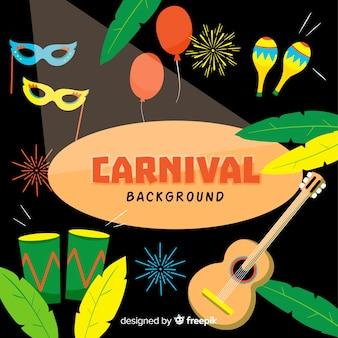 Kleurrijke backgroun van carnaval