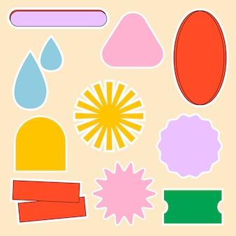 Kleurrijke badge illustratie vector set