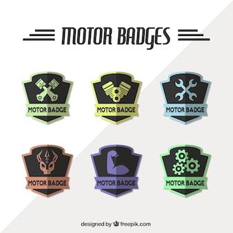 Kleurrijke badges voor reparatiebedrijven
