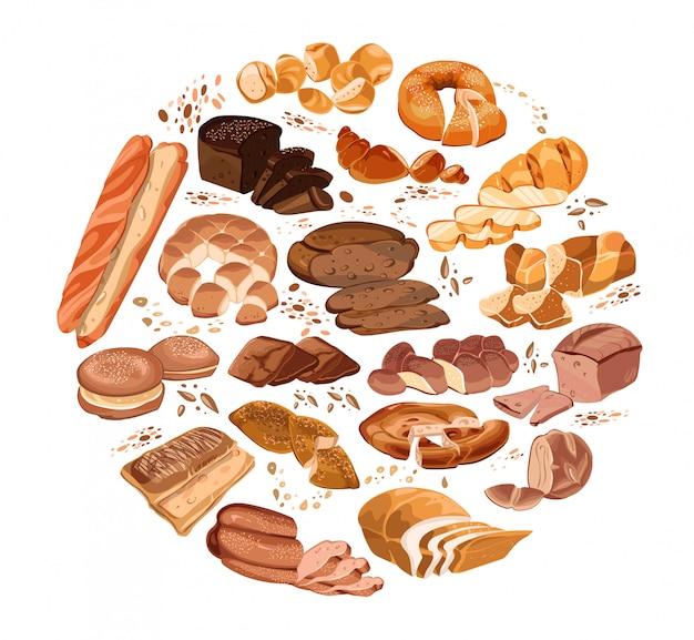 Kleurrijke bakproducten om concept