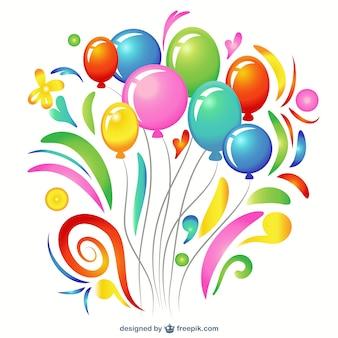 Kleurrijke ballon clip art