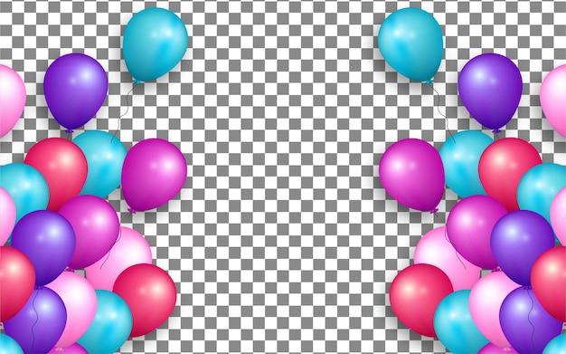Kleurrijke ballon met transparante achtergrond