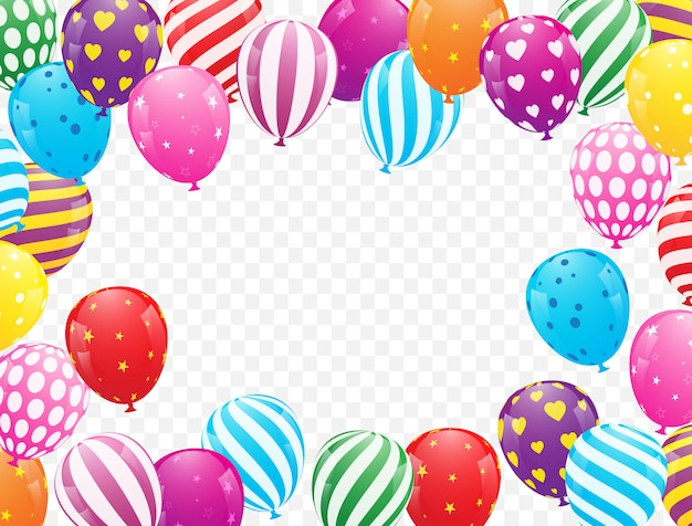 Kleurrijke ballon vectorillustratie als achtergrond