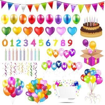 Kleurrijke ballonnen met verloopnet illustratie