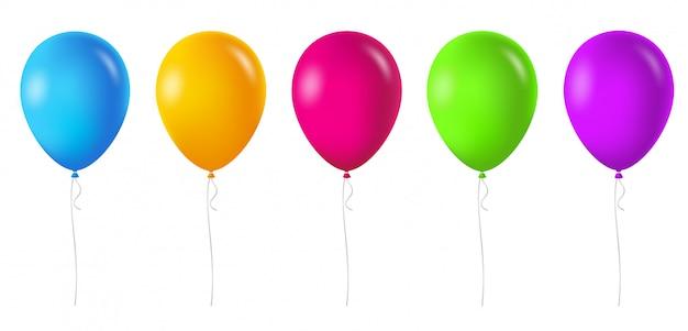 Kleurrijke ballonnen set.
