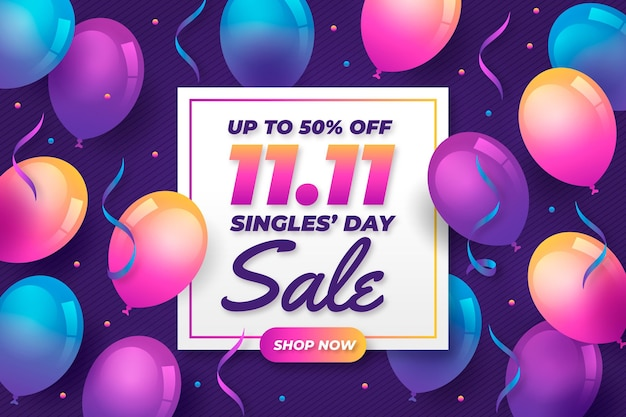 Kleurrijke ballonnen singles dag