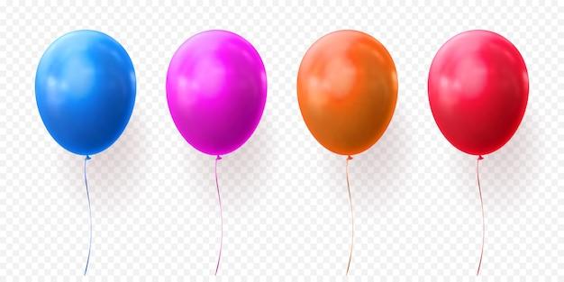 Kleurrijke ballonnen vector transparante glanzende realistische ballonnen voor verjaardagsfeestje