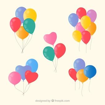 Kleurrijke ballonset