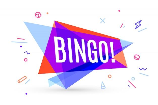 Kleurrijke banner met tekst bingo