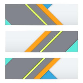 Kleurrijke banner van ongebruikelijk modern materiaal