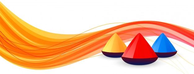 Kleurrijke banner voor gelukkig holifestival