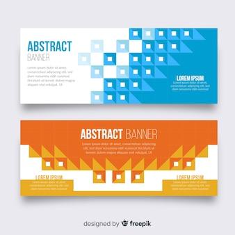 Kleurrijke banners met abstract ontwerp