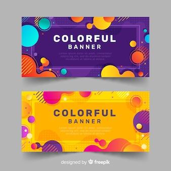 Kleurrijke banners