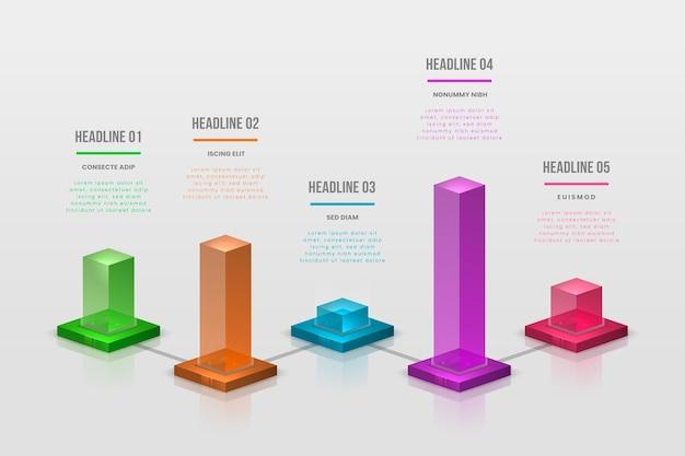 Kleurrijke bars infographic