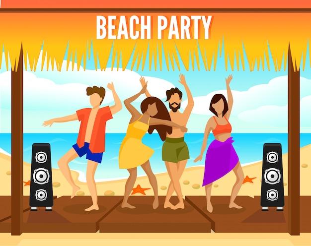 Kleurrijke beach party-sjabloon
