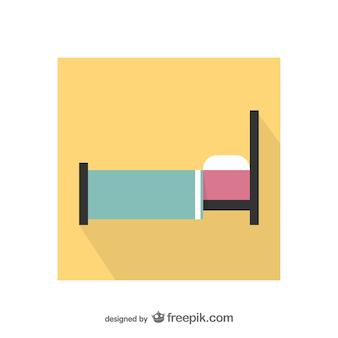 Kleurrijke bed pictogram