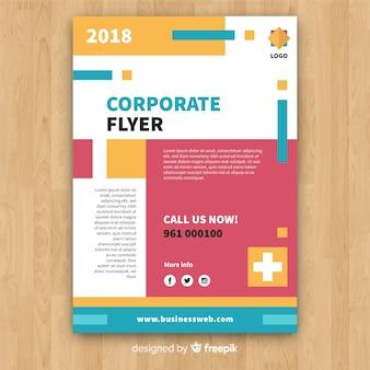 Kleurrijke bedrijfsvlieger met abstract ontwerp
