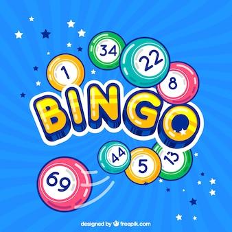 Kleurrijke bingo achtergrond
