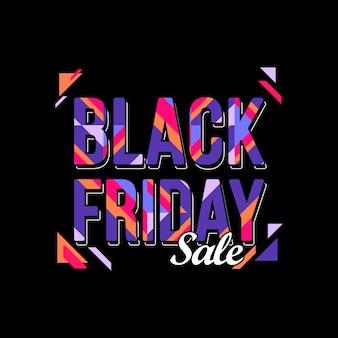 Kleurrijke black friday-verkoopachtergrond