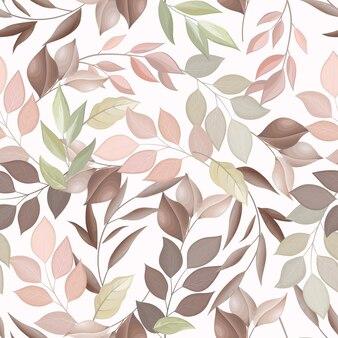 Kleurrijke bladeren naadloze patroon