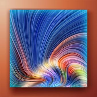 Kleurrijke blauw roze diagonale vloeiende golvende lijnen abstracte achtergrond