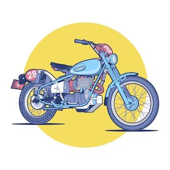 Kleurrijke blauwe en gele fiets achtergrond