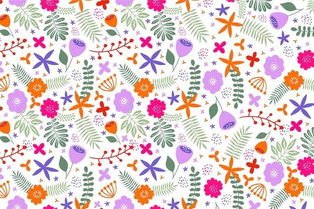 Kleurrijke bloemblaadjes van bloemen ditsy print achtergrond