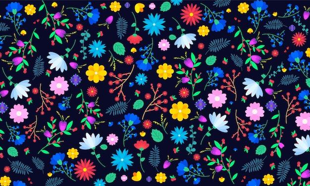 Kleurrijke bloemen achtergrond