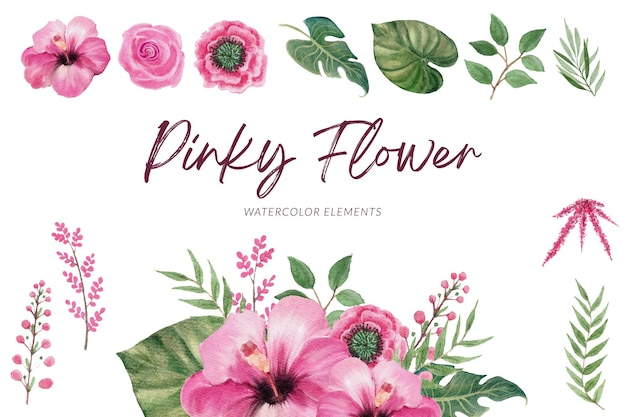 Kleurrijke bloemen aquarel