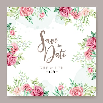Kleurrijke bloemen bruiloft uitnodigingskaart
