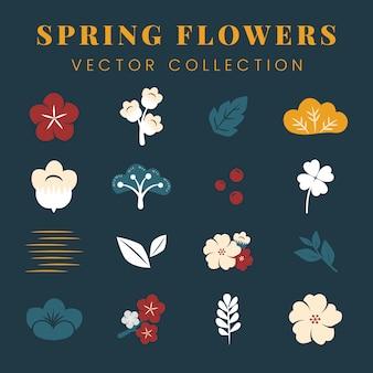 Kleurrijke bloemen instellen
