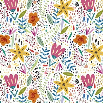 Kleurrijke bloemen lente achtergrond